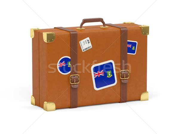 чемодан флаг британский Виргинские о-ва путешествия изолированный Сток-фото © MikhailMishchenko