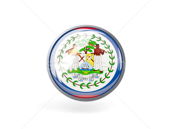 Ikon zászló Belize fém keret utazás Stock fotó © MikhailMishchenko