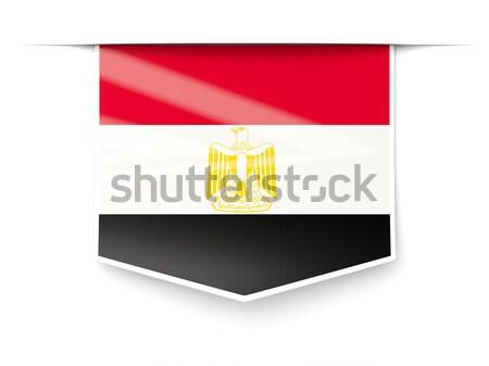 Square icon with flag of egypt Stock photo © MikhailMishchenko