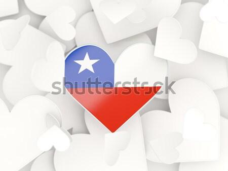 Vlag Panama geïsoleerd witte Stockfoto © MikhailMishchenko
