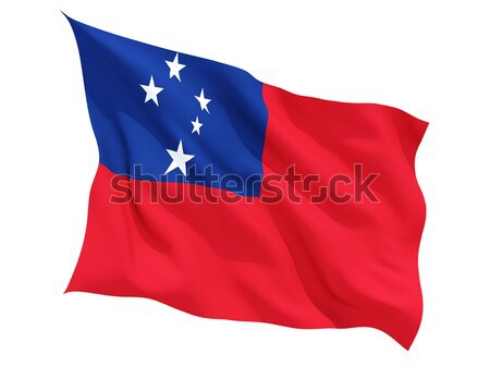 Bandeira Samoa isolado branco Foto stock © MikhailMishchenko