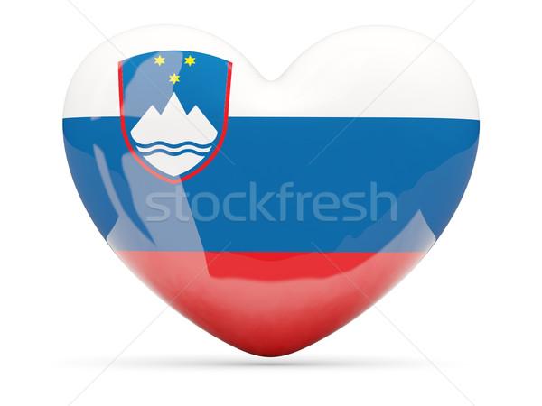 Coração ícone bandeira Eslovenia isolado Foto stock © MikhailMishchenko
