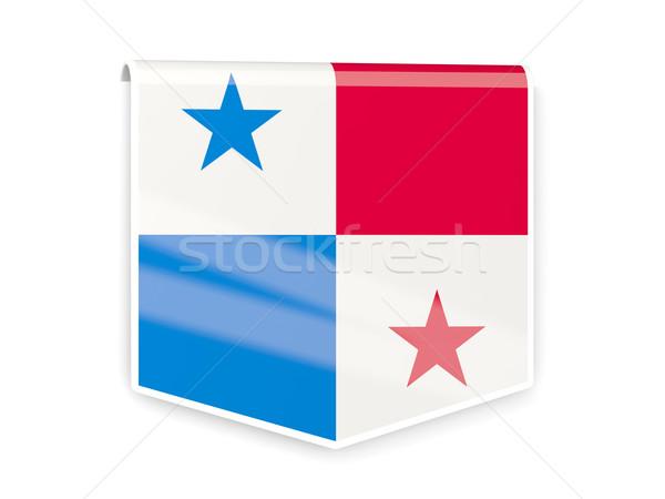 Zászló címke Panama izolált fehér világ Stock fotó © MikhailMishchenko