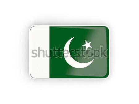 Ikon zászló Pakisztán izolált fehér utazás Stock fotó © MikhailMishchenko