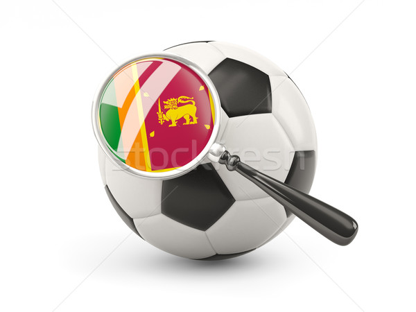 Football with magnified flag of sri lanka Stock photo © MikhailMishchenko