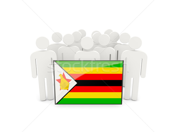 人 フラグ ジンバブエ 孤立した 白 群衆 ストックフォト © MikhailMishchenko