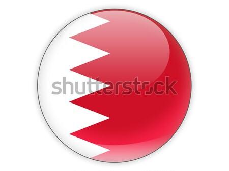 ícone bandeira Bahrein assinar branco Foto stock © MikhailMishchenko