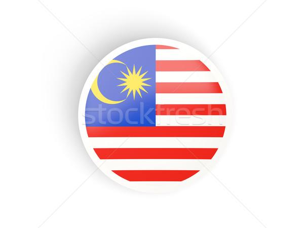 Adesivo bandeira Malásia isolado branco viajar Foto stock © MikhailMishchenko