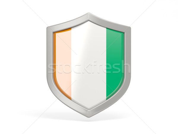 Shield icon with flag of cote d Ivoire Stock photo © MikhailMishchenko