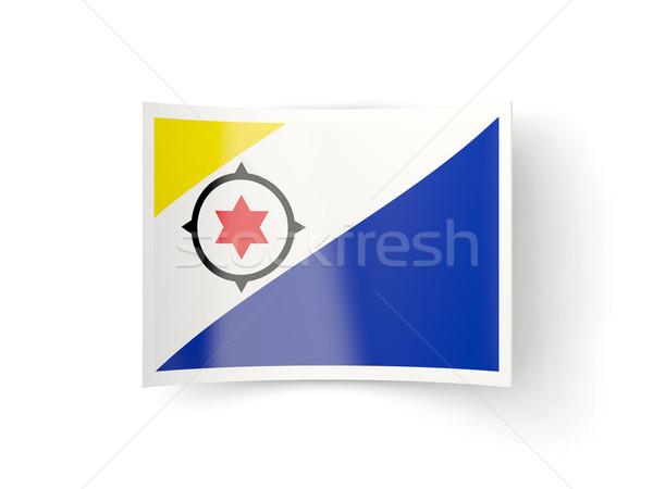 Bent icon with flag of bonaire Stock photo © MikhailMishchenko