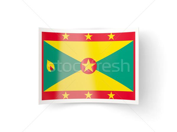 Bent icon with flag of grenada Stock photo © MikhailMishchenko