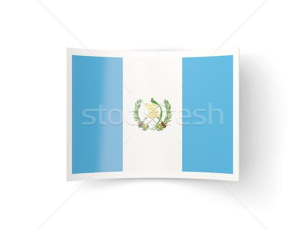 Bent icon with flag of guatemala Stock photo © MikhailMishchenko
