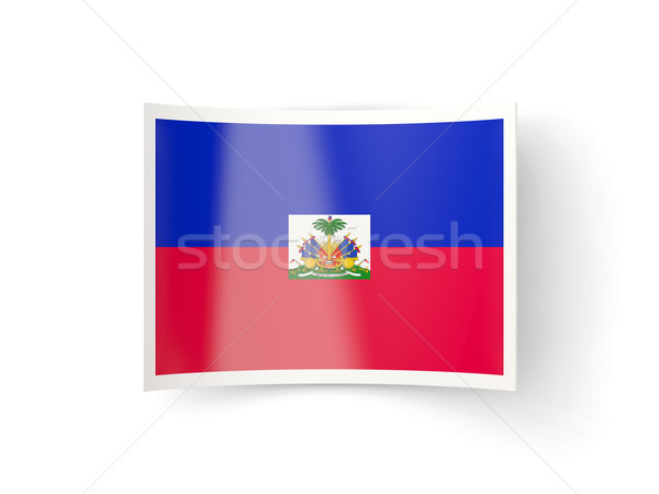 Bent icon with flag of haiti Stock photo © MikhailMishchenko