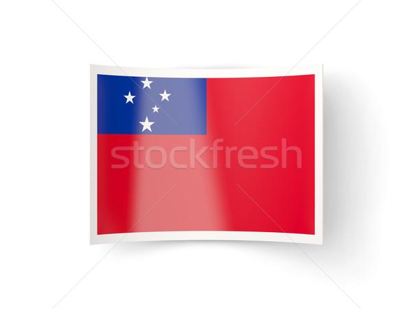 Bent icon with flag of samoa Stock photo © MikhailMishchenko