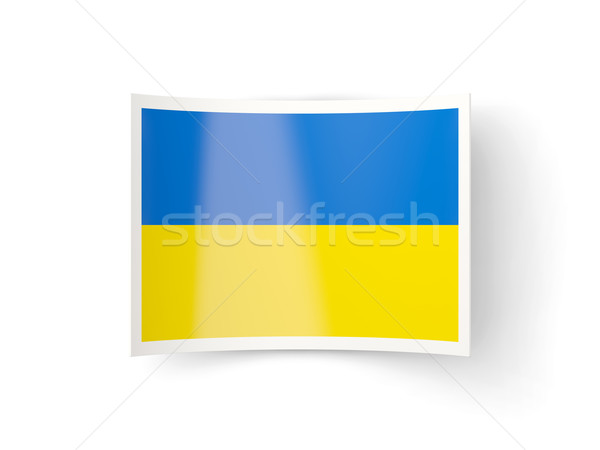Bent icon with flag of ukraine Stock photo © MikhailMishchenko