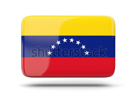 Praça ícone bandeira Venezuela sombra assinar Foto stock © MikhailMishchenko