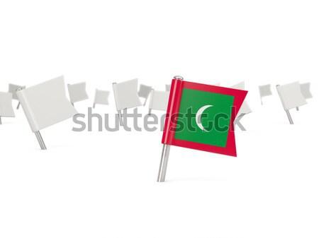 Tér tő zászló Banglades izolált fehér Stock fotó © MikhailMishchenko
