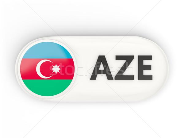 Icono bandera Azerbaiyán iso código país Foto stock © MikhailMishchenko