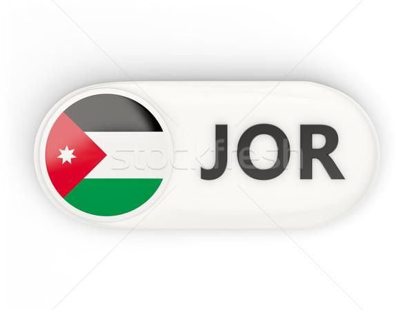 Ikona banderą Jordania iso kodu kraju Zdjęcia stock © MikhailMishchenko