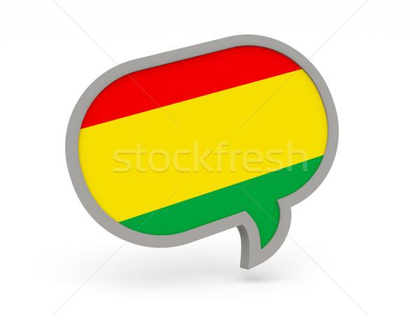Chat ikon zászló Bolívia izolált fehér Stock fotó © MikhailMishchenko