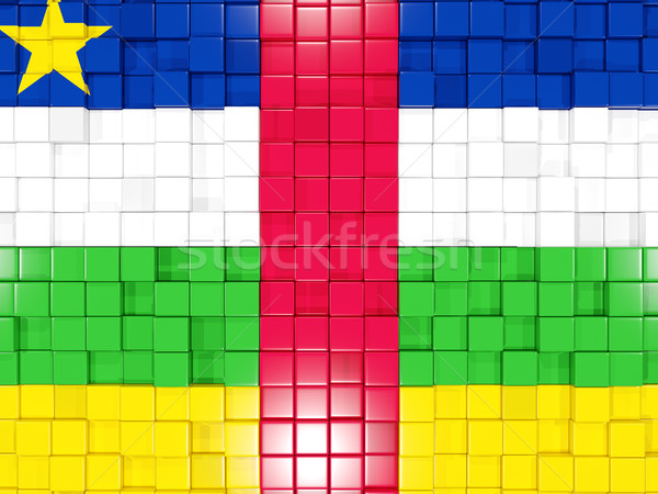 Background with square parts. Flag of central african republic.  Stock photo © MikhailMishchenko