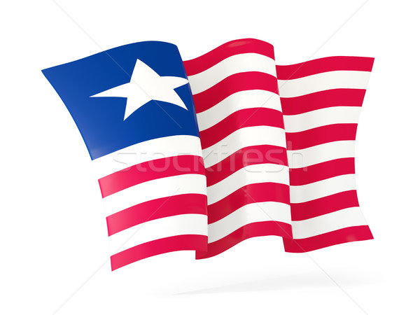 Waving flag of liberia. 3D illustration Stock photo © MikhailMishchenko
