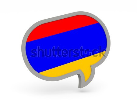 Chat icon with flag of ukraine Stock photo © MikhailMishchenko
