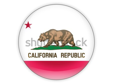 Flag of california, US state heart icon Stock photo © MikhailMishchenko