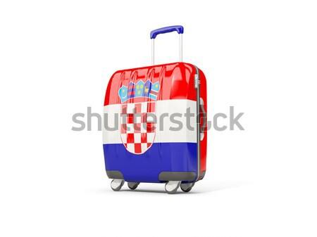 Bagaglio bandiera meridionale valigia isolato bianco Foto d'archivio © MikhailMishchenko