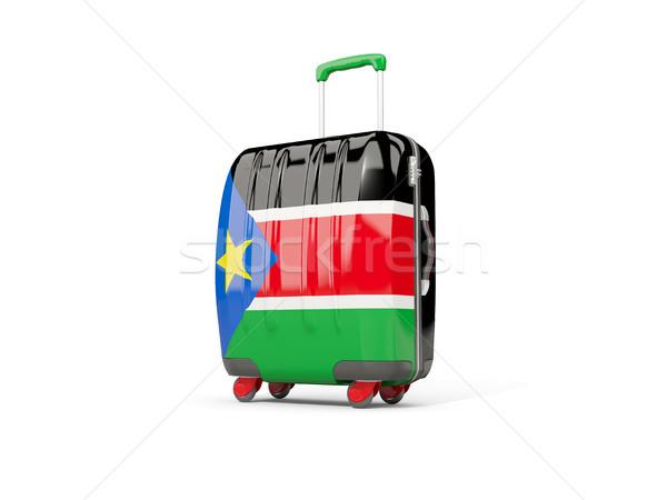 Bagażu banderą południe walizkę odizolowany biały Zdjęcia stock © MikhailMishchenko