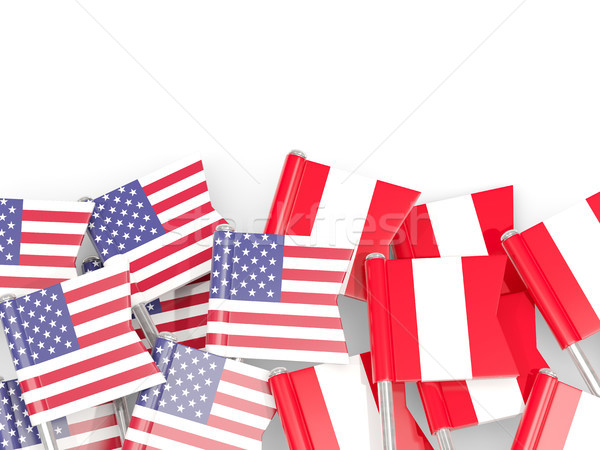 Bandeira eua isolado branco ilustração 3d américa Foto stock © MikhailMishchenko