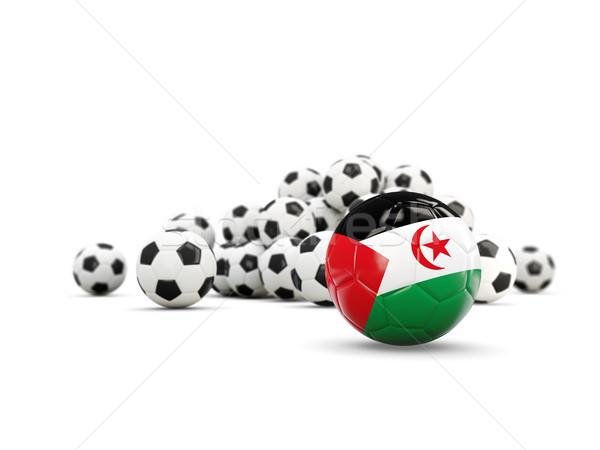 Fútbol bandera occidental sáhara aislado blanco Foto stock © MikhailMishchenko
