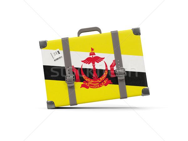 Камера флаг Бруней чемодан изолированный белый Сток-фото © MikhailMishchenko