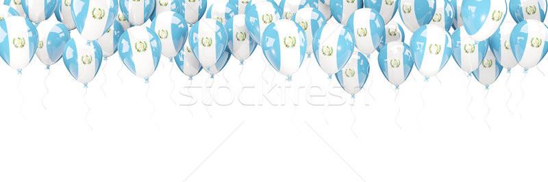 Balloons frame with flag of guatemala Stock photo © MikhailMishchenko