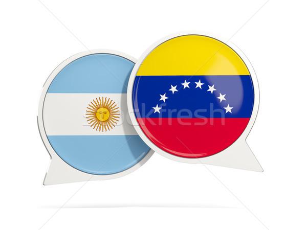 Chat buborékok Argentína Venezuela izolált fehér Stock fotó © MikhailMishchenko