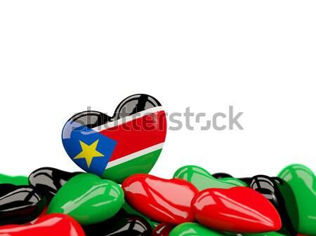 Heart with flag of east timor Stock photo © MikhailMishchenko