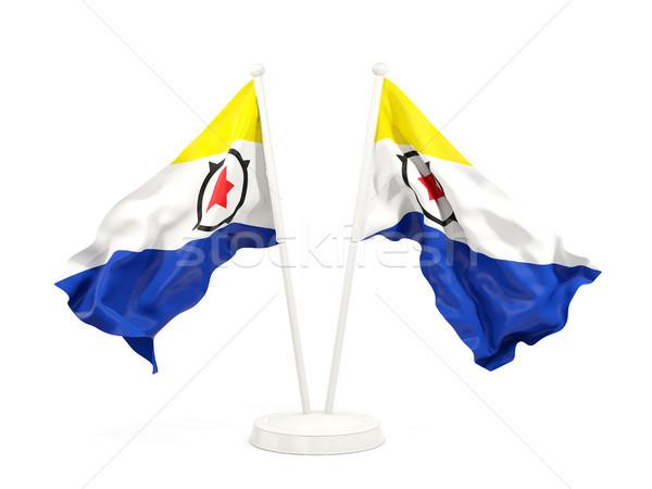 Two waving flags of bonaire Stock photo © MikhailMishchenko