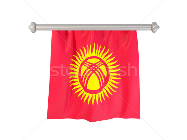 Pennant with flag of kyrgyzstan Stock photo © MikhailMishchenko
