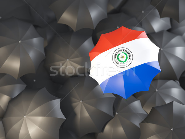 Umbrella with flag of paraguay Stock photo © MikhailMishchenko