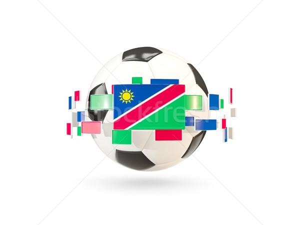 Futbol topu hat bayraklar bayrak Namibya Stok fotoğraf © MikhailMishchenko