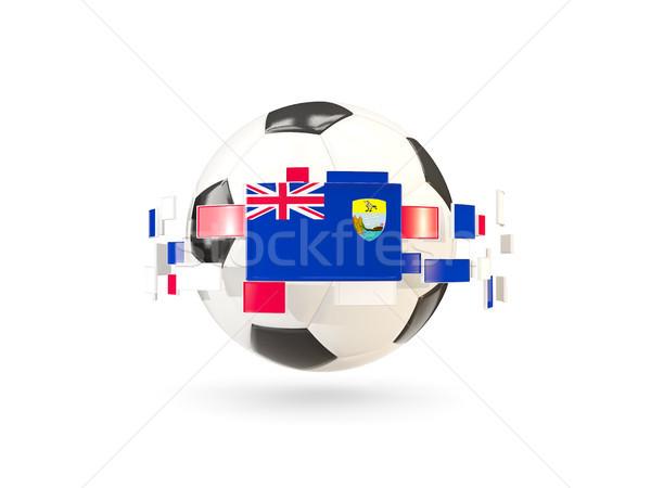 Futbol topu hat bayraklar bayrak aziz Stok fotoğraf © MikhailMishchenko