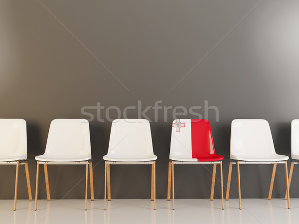 Silla bandera Malta blanco sillas Foto stock © MikhailMishchenko