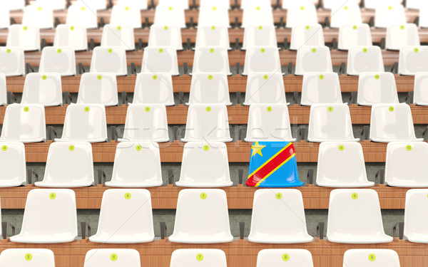 Stadium seat with flag of democratic republic of the congo Stock photo © MikhailMishchenko