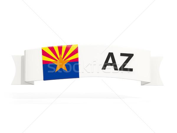 Arizona bandera banner abreviatura aislado blanco Foto stock © MikhailMishchenko
