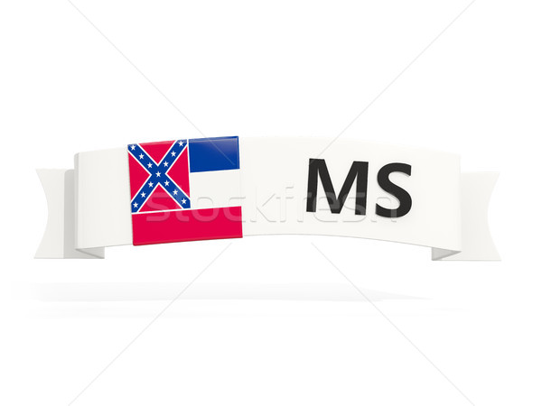mississippi state flag on banner with postal abbreviation isolat Stock photo © MikhailMishchenko