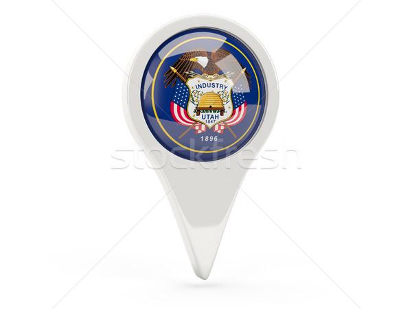 Round flag pin with flag of utah. United states local flags Stock photo © MikhailMishchenko