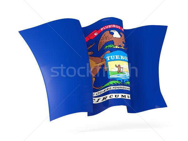 Michigan vlag icon Verenigde Staten Stockfoto © MikhailMishchenko