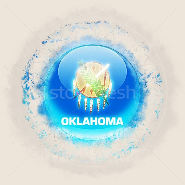 Oklahoma vlag grunge icon Verenigde Staten lokaal Stockfoto © MikhailMishchenko