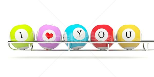 Loterij teken liefde hart Rood Stockfoto © MikhailMishchenko