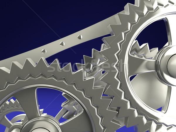 クロック 歯車 青 建設 業界 エネルギー ストックフォト © MikhailMishchenko